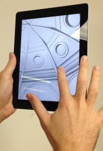 iVisit 3D Model on an iPad